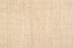 Homespun linen canvas background. Handmade linen fabric texture 0, close up royalty free stock photo