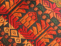 homespun mayan modelltextil Arkivbild