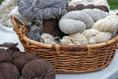 Homespun Wool Royalty Free Stock Images