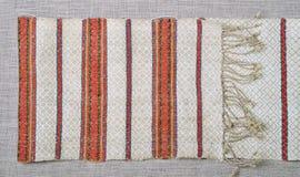 Homespun woven towel Royalty Free Stock Photography
