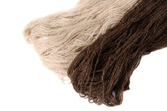 Homespun yarn Stock Image