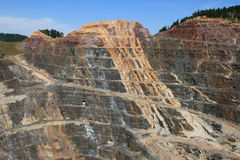 Homestake open pit mine stock photography