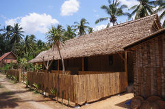 Homestay. Buildings with traditional architecture on the island of Nusa Penida, Bali, Indonesia Stock Photos