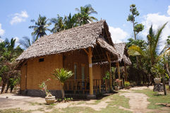 Homestay. Buildings with traditional architecture on the island of Nusa Penida, Bali, Indonesia Royalty Free Stock Photo