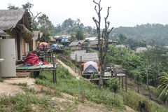 Homestay camping and tent at Doi Luang Chiang Dao in Chiang Mai Province, Thailand Stock Image