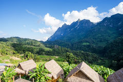 Homestay camping and tent. At Doi Luang Chiang Dao, High mountain in Chiang Mai Province, Thailand stock images