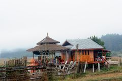 The homestay in countryside. The homestay in countryside north Thailand Stock Photo