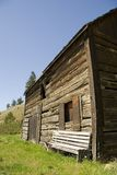 Homestead. Weathered old homestead building in disrepair royalty free stock photos