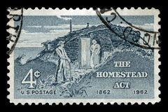 The Homestead Act US Postage Stamp Royalty Free Stock Images