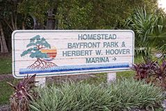 Homestead Bayfront Park. And Herbert W. Hoover Marina Stock Photo