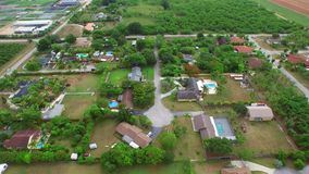 Homestead Florida homes aerial video stock video