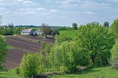 Homestead on hillside Stock Photography