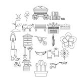 Homestead icons set, outline style. Homestead icons set. Outline set of 25 homestead vector icons for web isolated on white background Stock Photography
