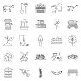 Homestead icons set, outline style. Homestead icons set. Outline set of 25 homestead vector icons for web isolated on white background Stock Images