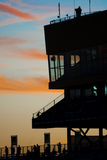 Homestead Miami Speedway in late evening sun Royalty Free Stock Image