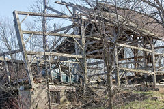 Homestead. An old fashion homestead wreck Stock Photos
