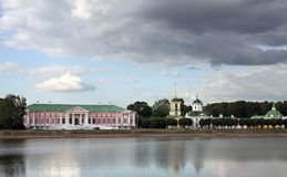 Homestead and park Kuskovo in Moscow Stock Image