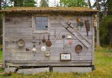 Homesteaders kabin Royaltyfri Fotografi