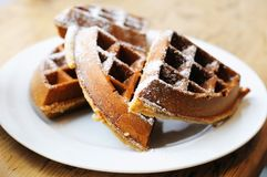Homestyle Belgian waffles Royalty Free Stock Photography