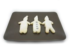 Homestyle biscuits. Homemade cookies in the traditional style decorated in different ways stock image