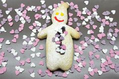 Homestyle biscuits. Homemade cookies in the traditional style decorated in different ways stock photos