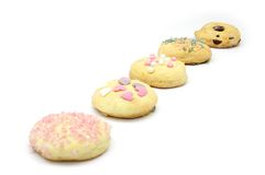 Homestyle biscuits. Homemade cookies in the traditional style decorated in different ways stock photo