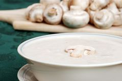 Homestyle cream of mushroom soup Royalty Free Stock Image