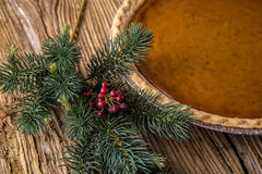 Homestyle Holiday Pumpkin Pie Royalty Free Stock Images