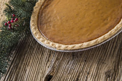 Homestyle Holiday Pumpkin Pie Royalty Free Stock Image
