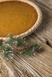 Homestyle Holiday Pumpkin Pie Stock Photo