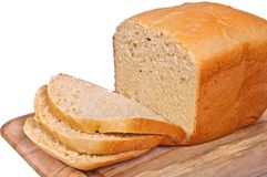 The homestyle white bread. Stock Photography