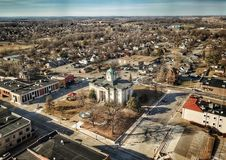 Hometown. Courthouse square is the center of many townships stock photos