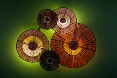 Hometrends houten lamp Royalty-vrije Stock Foto's