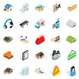 Homeward icons set, isometric style. Homeward icons set. Isometric set of 25 homeward vector icons for web isolated on white background Stock Photography