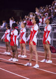 High School Football Cheerleaders Stock Image