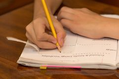 homework obraz royalty free