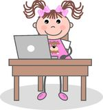Homework. A student doing her homework Royalty Free Stock Images