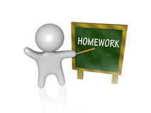 Homework 3d Stock Photos