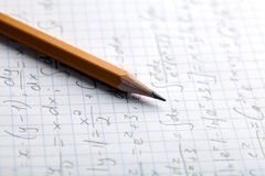 homework fotografia stock