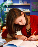 Homework Stock Photo