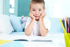 Homework again Royalty Free Stock Photography