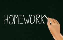 Homework or assignment Royalty Free Stock Photography