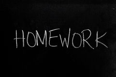 Homework on Blackboard Stock Photography