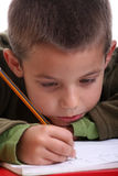 Homework boy Stock Photos