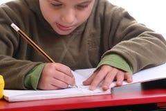 Homework boy Royalty Free Stock Image