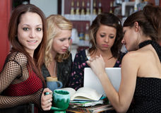 Homework Cafe Stock Image