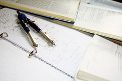 Homework college Stock Photography