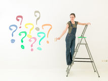 Homework colour question Royalty Free Stock Photo