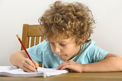 Homework concentration Stock Photography