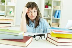 Homework doer Stock Images